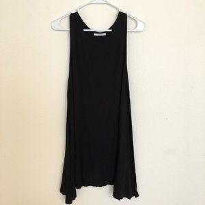 Black trapeze t shirt dress